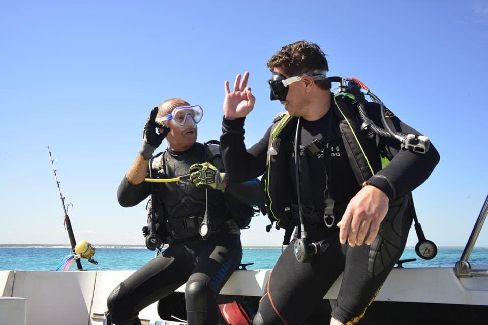 Départ en plongée Salary Bay