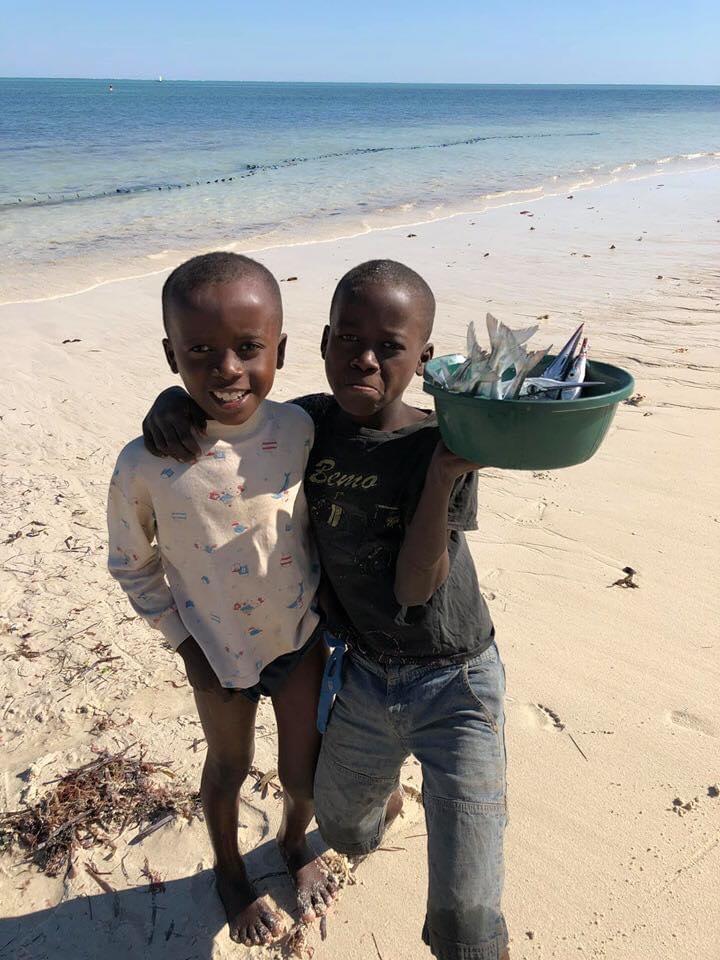 Les produits de la mer au Restaurant Salary Bay, Sud Ouest de Madagascar
