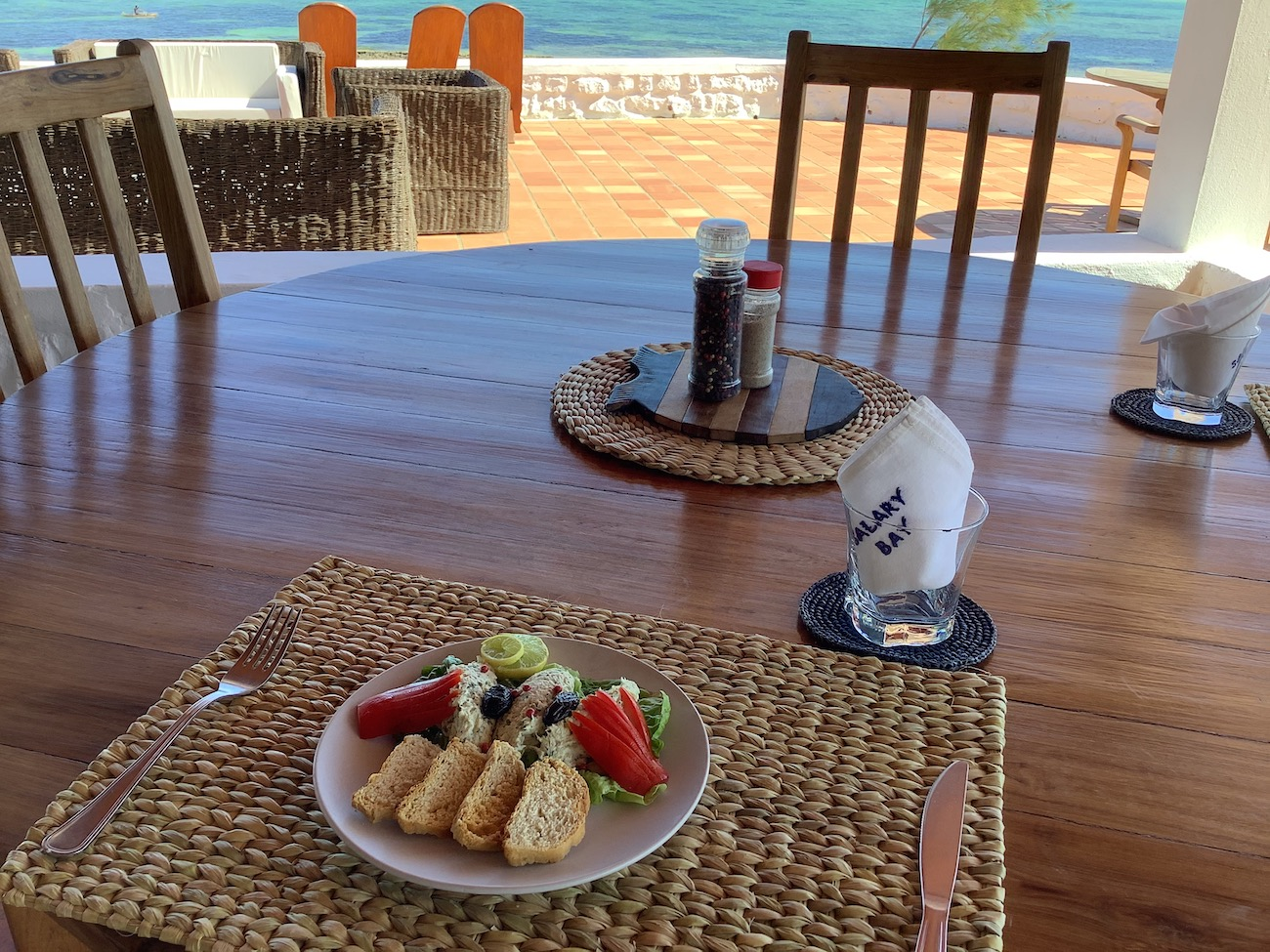Ou alors une rillette de capitaine, cuisinée par notre Chef Julien, Hotel Salary Bay