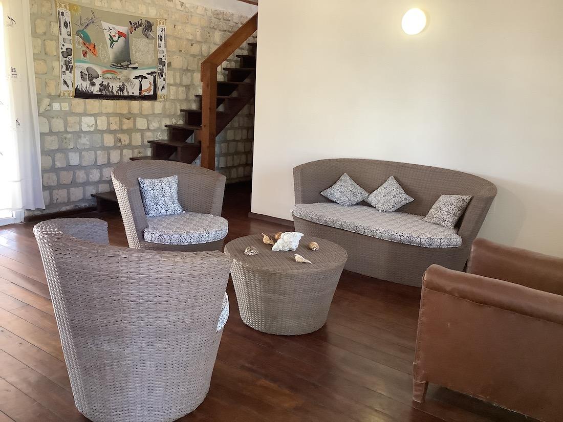 Villa Hotel Salary Bay, Sud Ouest Madagascar, Petit salon